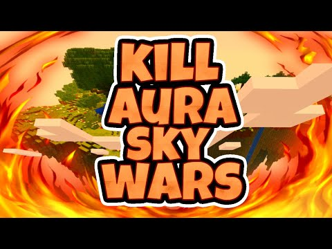 KILL AURA HACKING IN MCPE SKYWARS