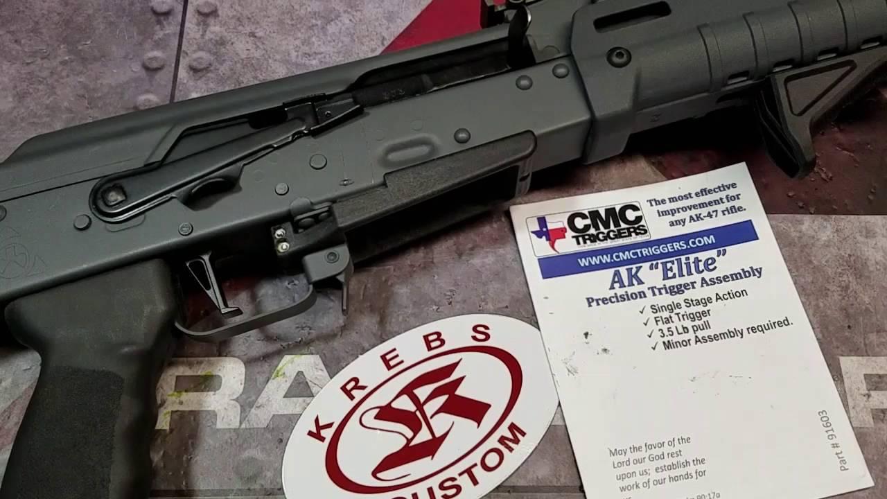 CMC AK Elite Trigger and Krebs Custom Safety Lever