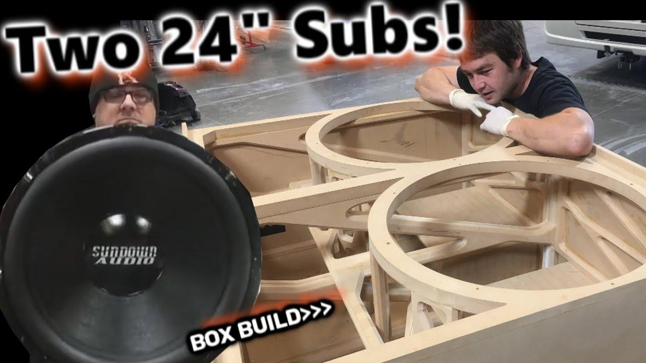"The ""Skelator"" box - 2 huge 24"" Sundown Subwoofers slot ported enclosure build (start to finish)"