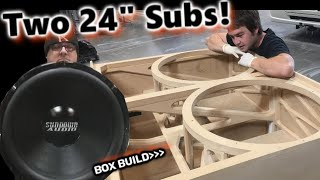 The 'Skelator' box  2 huge 24' Sundown Subwoofers slot ported enclosure build (start to finish)