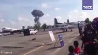 Момент падения истребителя JAS 39 на авиашоу в Таиланде