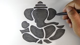 How to draw lord Ganesha -- Hindu god