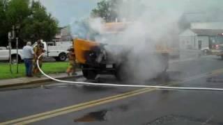 Dump truck fire Salisbury, MD