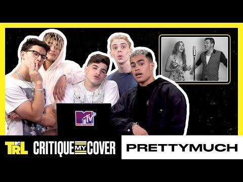 PRETTYMUCH React To A Fan Cover Of 'Open Arms' 🎤  | Critique My Cover | TRL