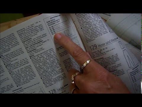 Schnittmuster lesen lernen - YouTube