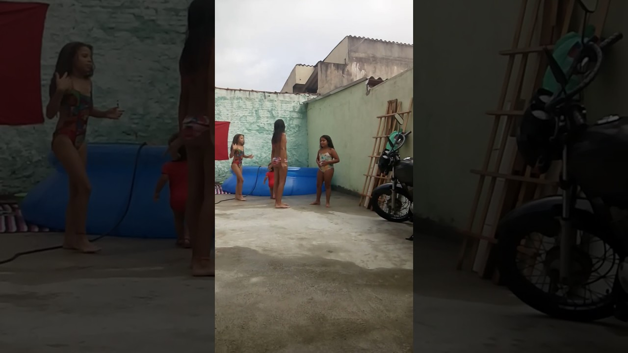 Desafio da piscina 😂😘