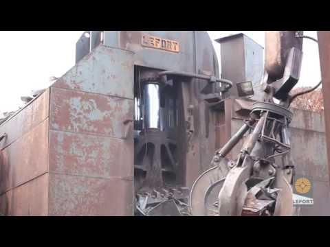 LEFORT Scrap Shear & Baler /Cisaille 1250T