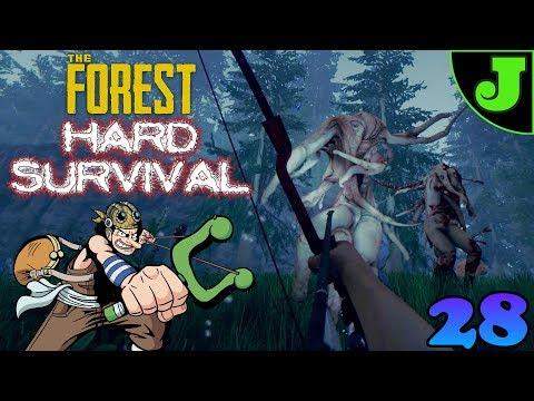 UPDATE! SLINGSHOT & ELECTRICAL TAPE! THE FOREST HARD SURVIVAL! | EPISODE 28 | V0.71