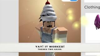 How to wear two hairs in roblox Mac, Computer