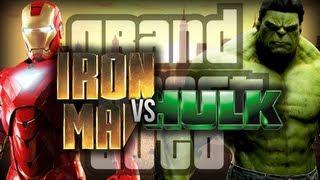 Gta 4: Iron Man Vs Hulk! Funny Moments W/ Mods
