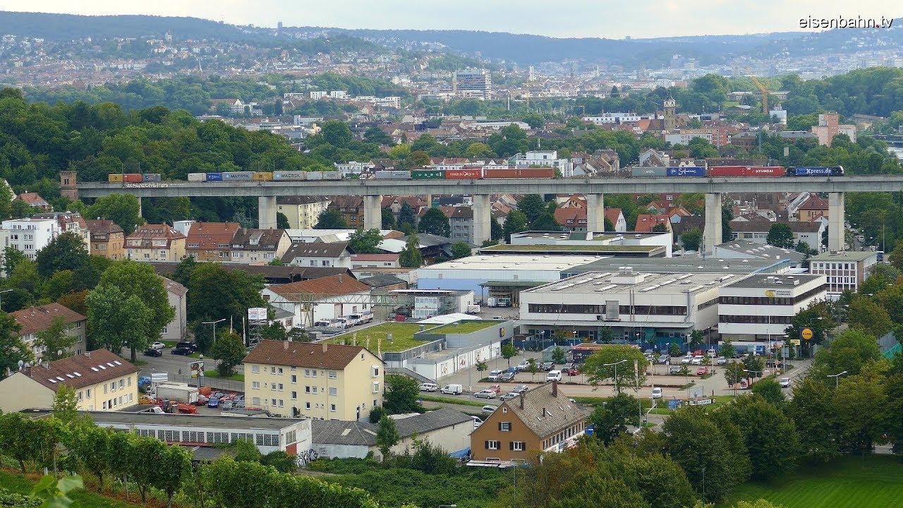 Umleiterzüge Rheintalbahn an der Güterumgehungsbahn ...