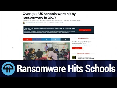 Ransomware Goes to School