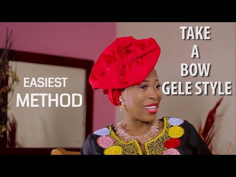 How To Tie Take A Bow Gele The Easy Way (DIY)