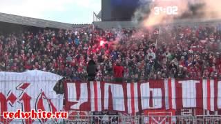 Арсенал - Спартак, суппорт фанатов Спартака