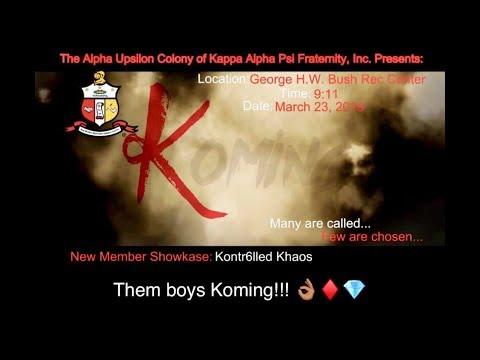 Kappa Alpha Psi (Alpha Upsilon Kolony) - Spring 2019 Probate (Georgetown College, KY)