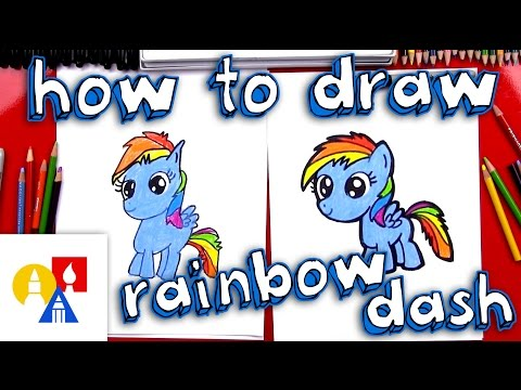 How To Draw Rainbow Dash (New Version With Color)
