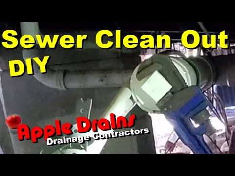 Blocked Drain, Sewer Clean Out, How To For Homeowners