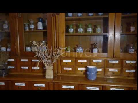 Old Pharmacy Cabinet For Storage of Medicines. Furniture of the 19Th Century.