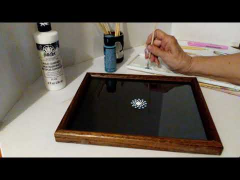 Mandala Dot Painting Beginner Art Tutorial on Glass Step by Step Instructions