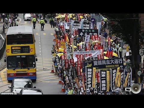 Hong Kong march remembers Tiananmen Square