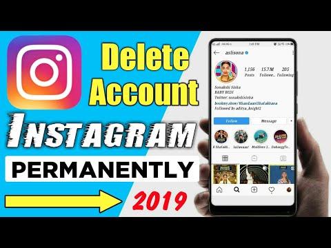 How To Delete Instagram Account Permanently 2019   Instagram Account Delete Kaise Kare