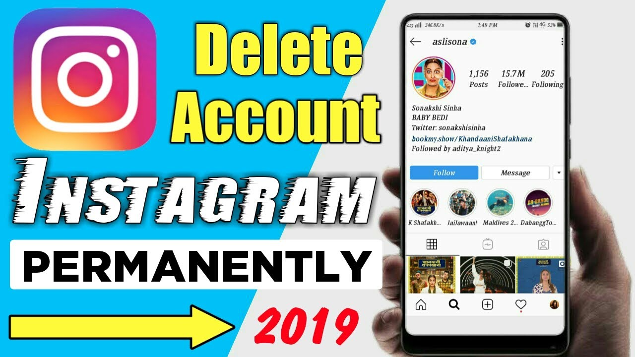 How To Delete Instagram Account Permanently 2019 | Instagram Account Delete Kaise Kare