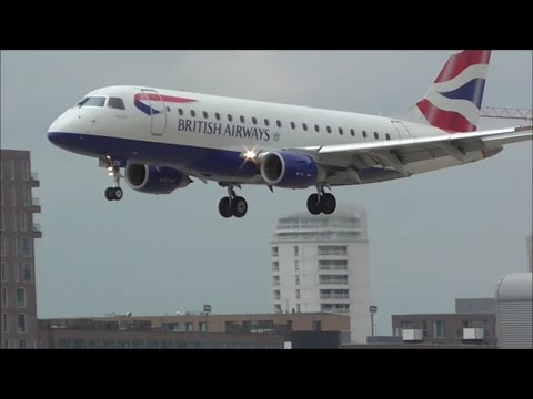 Planes at London City Airport, LCY | 16/07/15