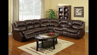 Brown Reclining Sectional Sofa