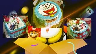 Doremon cake * Spider man cake • Decorating cream cake cake simple * Cách làm bánh sinh nhật doremon