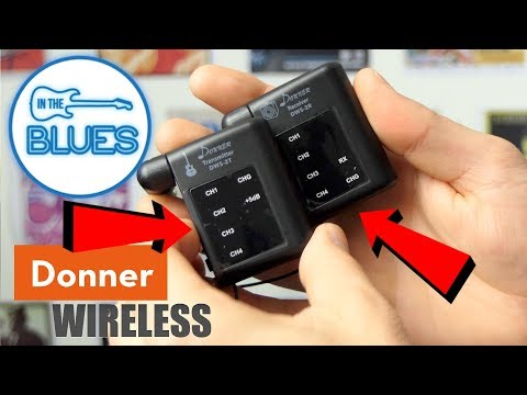 The New Donner DWS-2 Wireless Guitar System Pack