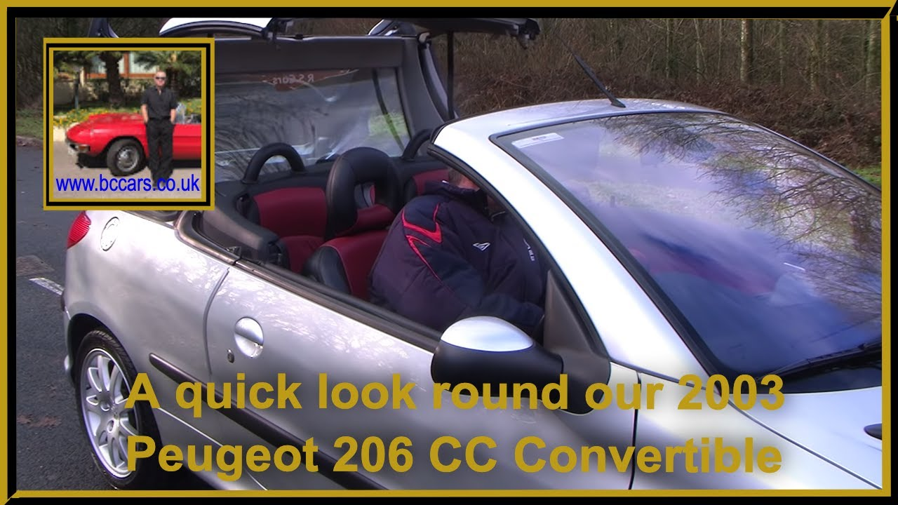 03 03 peugeot 206 cc convertible youtube. Black Bedroom Furniture Sets. Home Design Ideas