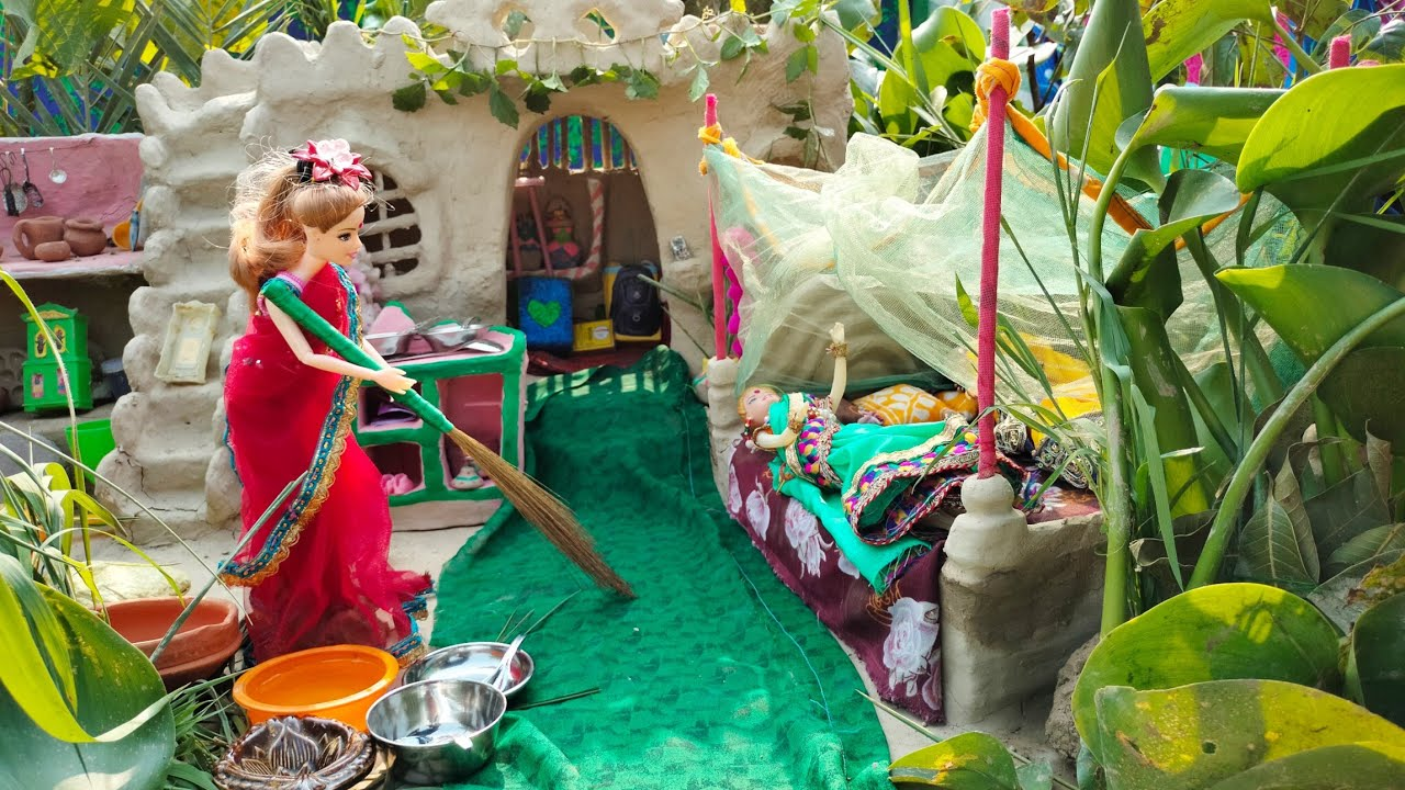Download Barbie Morning Routine|Barbie Routine in Indian Village|barbie take bath|barbie|बार्बी की कहानी