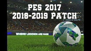 PES 2017 18-19 Yaması v2