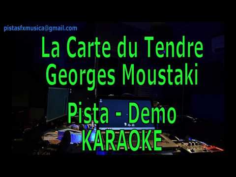 Karaoke La Carte du Tendre Georges Moustaki - Pista Demo
