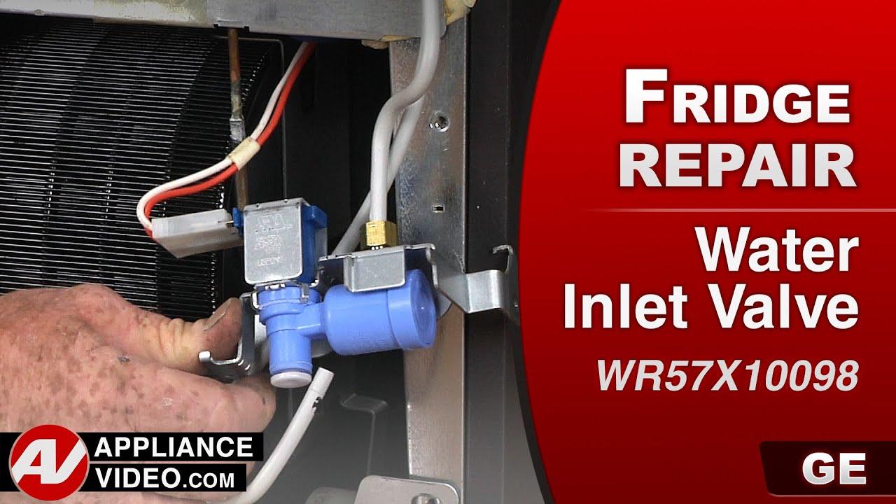 Ge Refrigerator Water Solenoid Wiring Diagram Ge Refrigerator Water Inlet Valve Repair Youtube