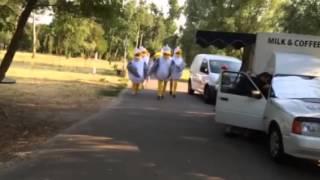 Креативная реклама от Саакашвили - парк победы киев