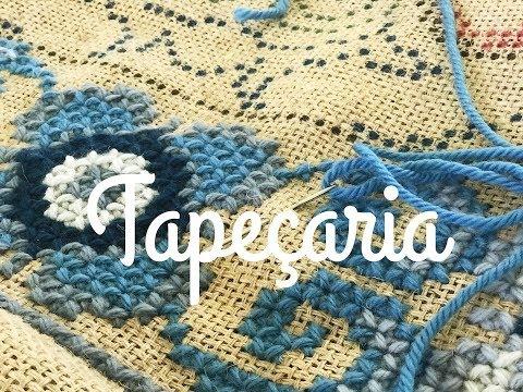 Aprendendo tapeçaria - todas as dicas para iniciantes - Ponto Casa Caiada na Juta