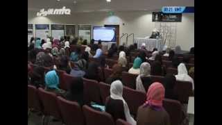 USA Lajna Students meeting with Hazrat Mirza Masroor Ahmad on 6th May 2013 in Los Angeles
