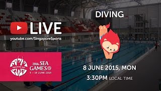 Aquatics Diving Platform Finals (Men) (Day 3) |28th SEA Games Singapore 2015