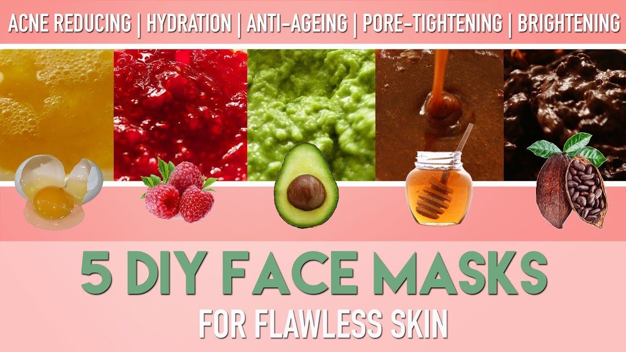 5 Diy Face Masks For Flawless Skin Homemade Natural Acne Remedies Anti Ageing Etc Peachy Youtube