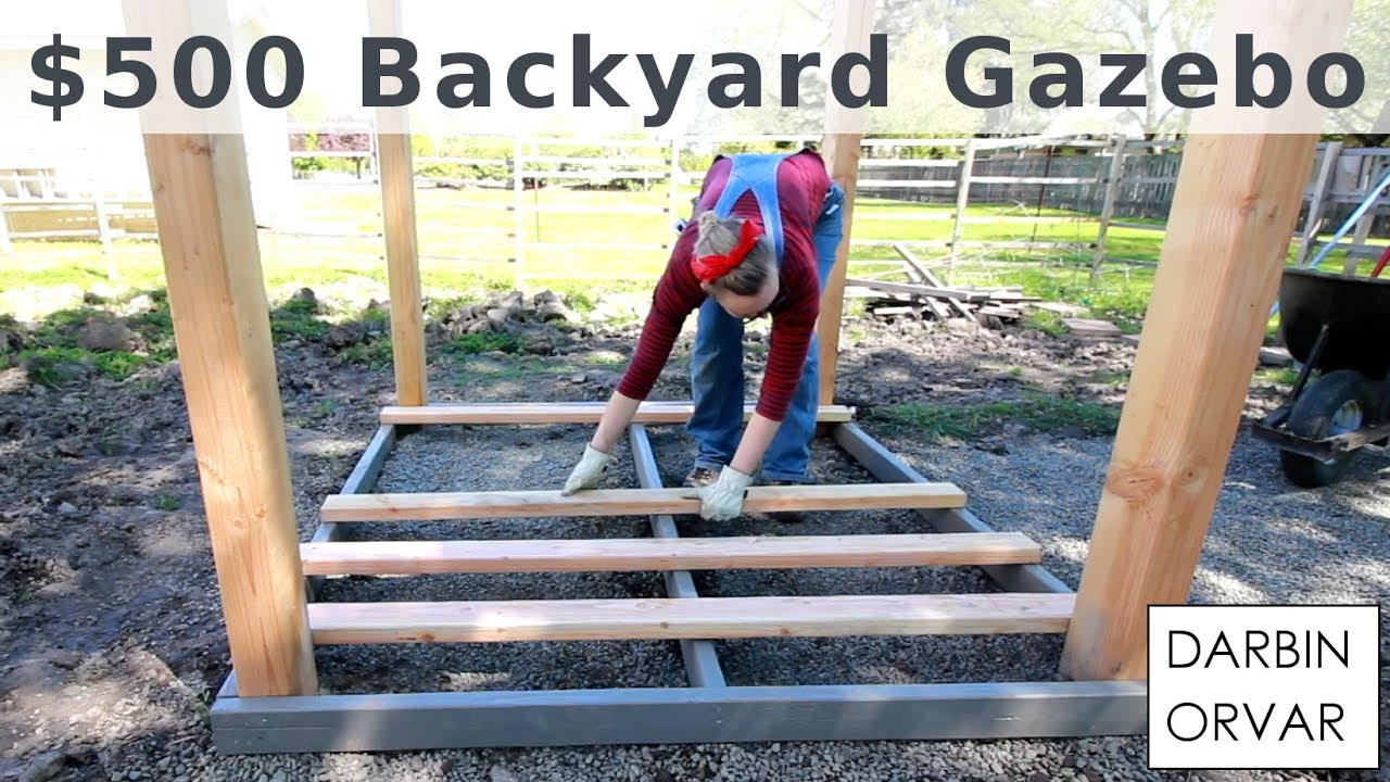 Backyard Gazebo For 500 W Limited Tools Youtube