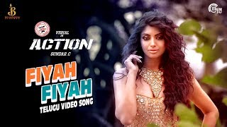 Action Telugu | Fiyah Fiyah Video Song | Vishal, Akanksha Puri | Hiphop Tamizha | Sundar.C