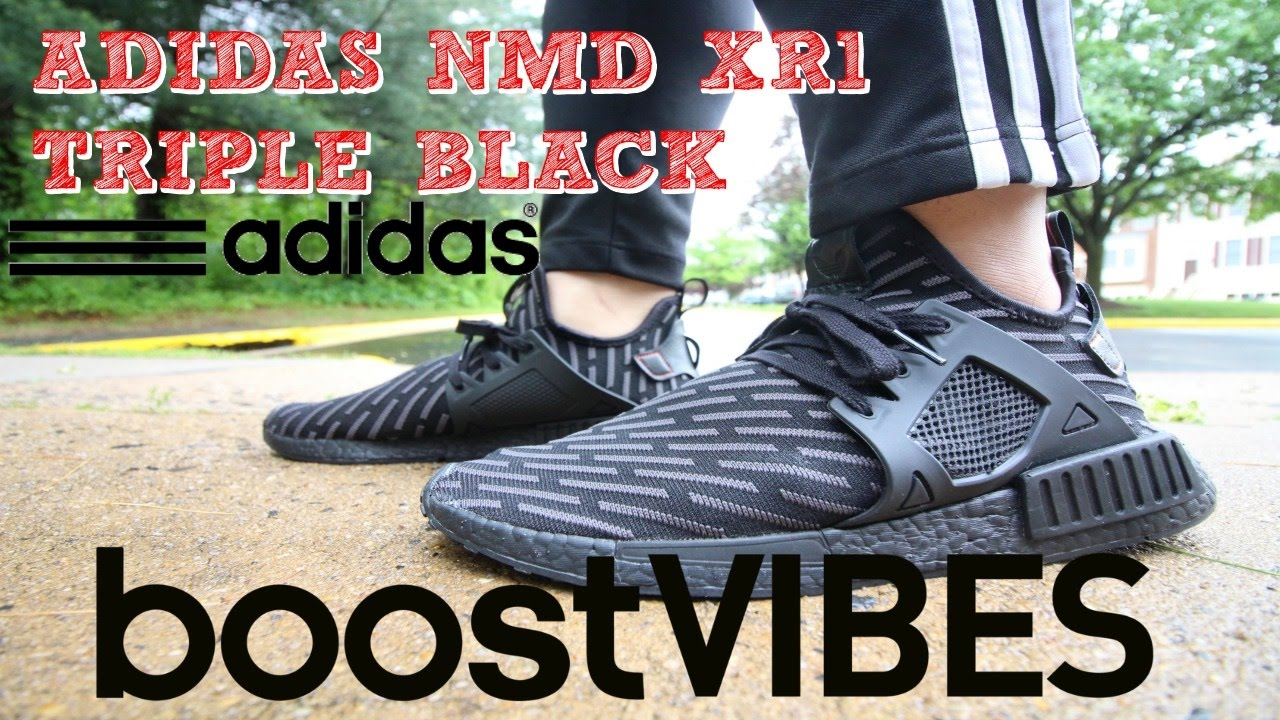 c77dad074a4c Adidas NMD XR1 TRIPLE BLACK!!!!! - YouTube