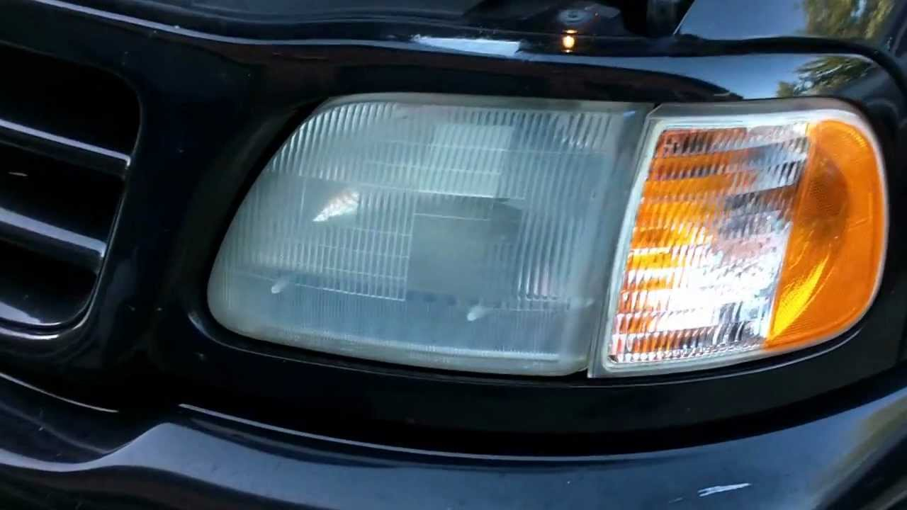 How To Restore Plastic Headlights 2002 F 150 4 2 V6 5 Speed Youtube