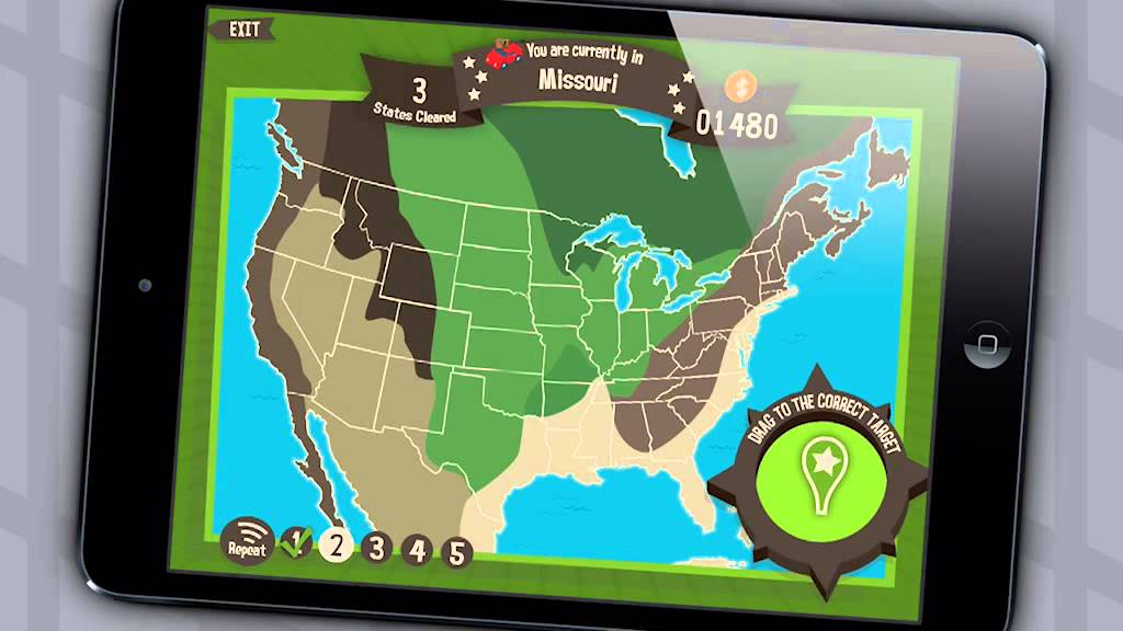 Geography Drive Usa 50 U S States Capitals Trivia Game