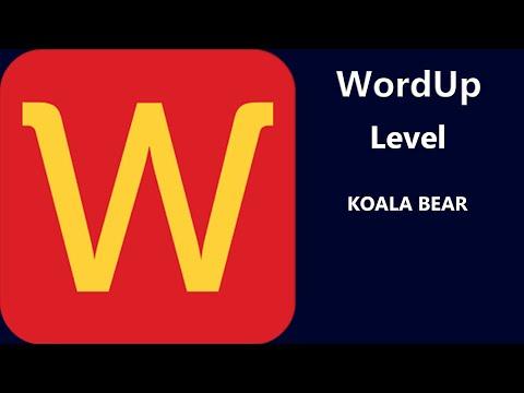 WordUp -  Level Koala Bear Answers