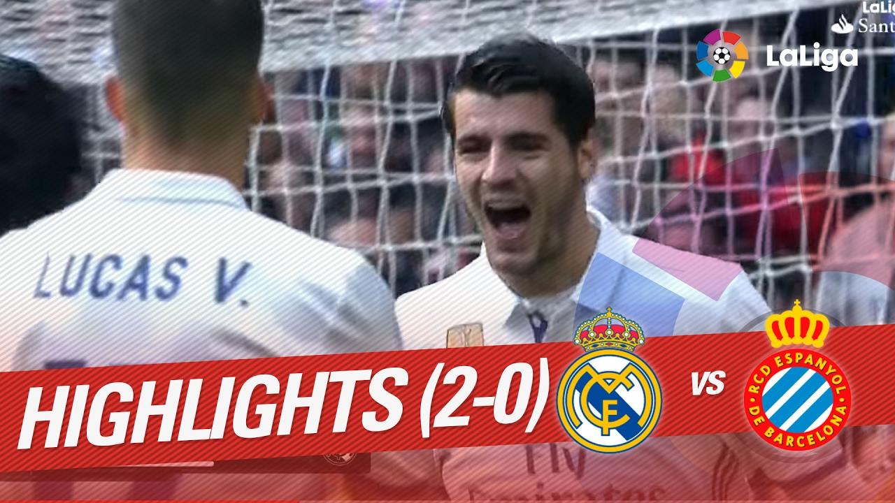 Highlights Real Madrid Vs Rcd Espanyol 2 0 Youtube