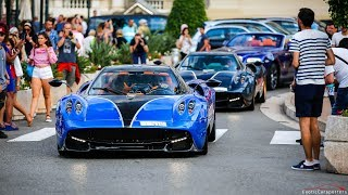 Arab Supercar Invasion in Monaco and Cannes ! Chiron, 3x Huayra, 3x 918, LaFerrari, Techart Turbo S