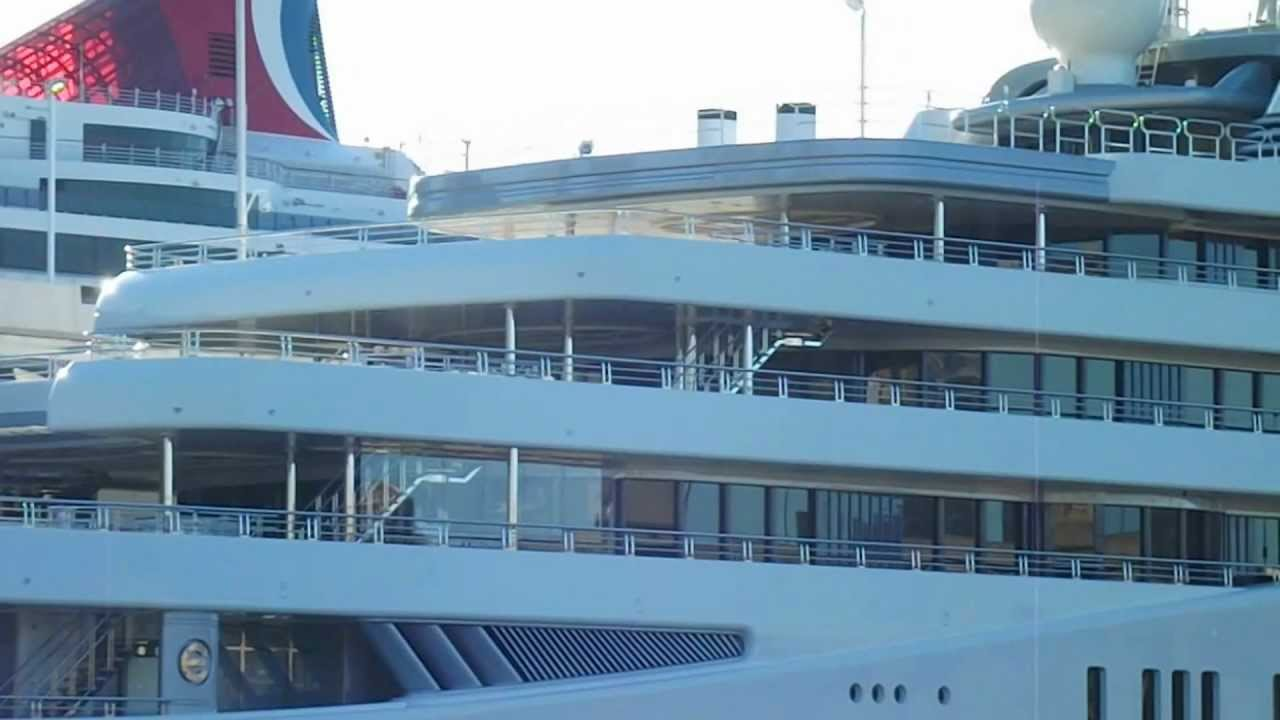 Eclipse yacht interior  Roman Abramovich Mega Yacht Eclipse in New York - YouTube