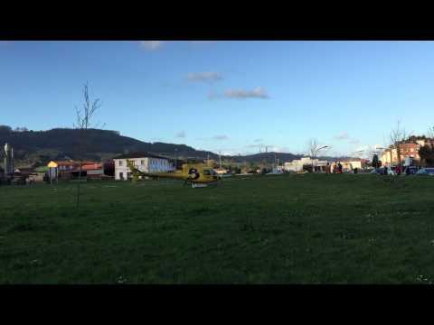 Marzo 2015 Helicóptero de Bomberos de Asturias  realiza  prácticas en Villaviciosa